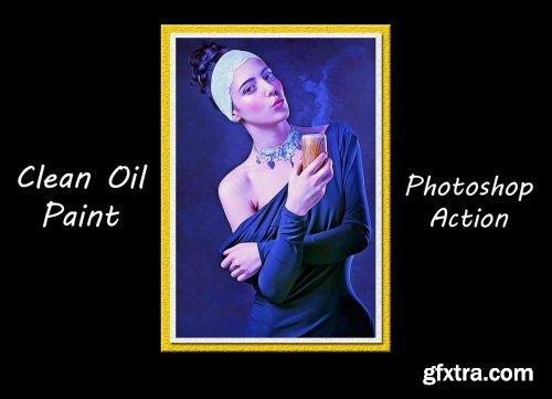 CreativeMarket - Clean Oil Paint Photoshop Action 4768292