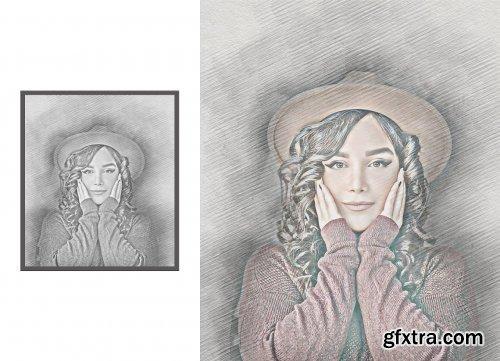CreativeMarket - Sketch Art Photoshop Action 5244322