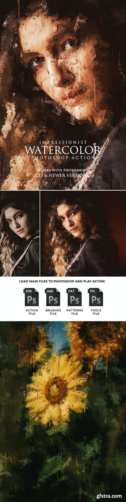 GraphicRiver - Impressionist Watercolor Photoshop Action 31905324