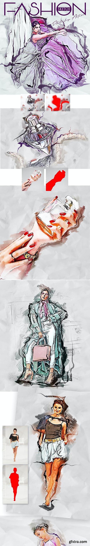 GraphicRiver - Fashion Sketch Photoshop Action 28970768