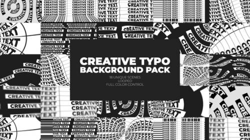 Videohive - Creative Typo Background Pack - 32980249 - 32980249