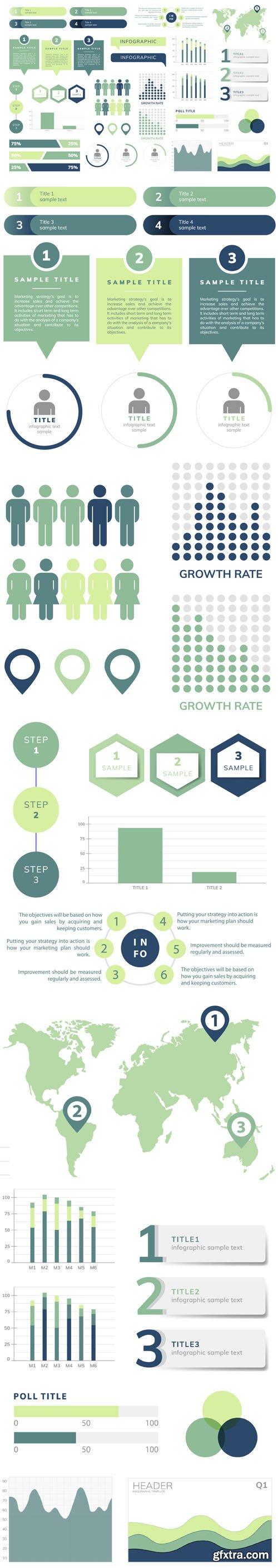 Business Infograph Vector Templates