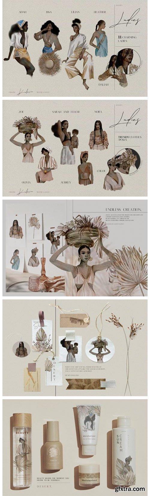 Beautiful African Ladies in Watercolor 14213490