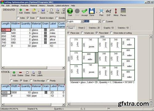 Cutting Optimization Pro 5.15.0.1 Multilingual