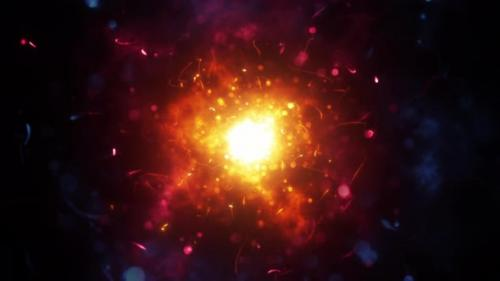 Videohive - Chaotic Magic Particles Background - 33073552 - 33073552