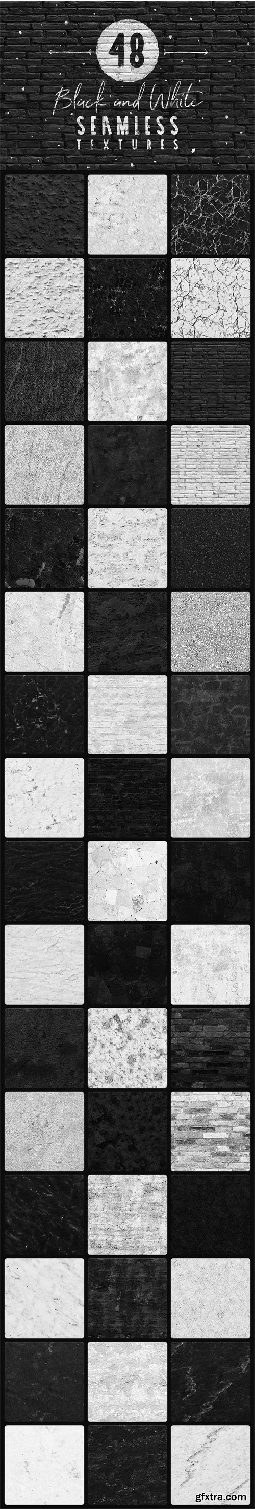 48 B/W Seamless Textures Collection