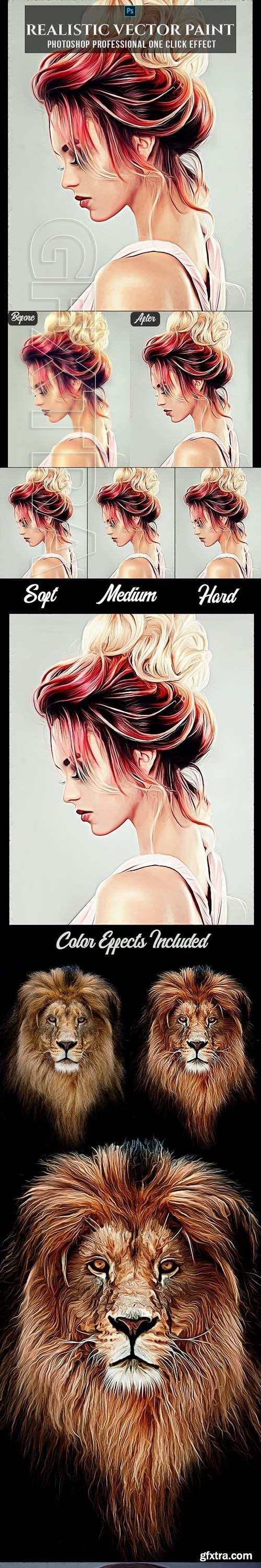 GraphicRiver - Realistic Vector Painting Photoshop Action 24510257