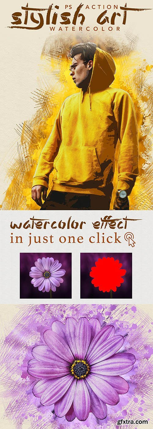 GraphicRiver - Stylish Art - Watercolor Photoshop Action 25607159