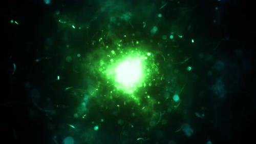 Videohive - Chaotic Magic Particle Background - 33093961 - 33093961