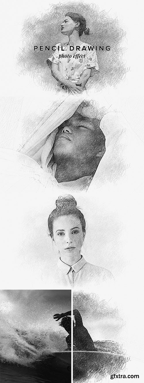 CreativeMarket - Pencil Drawing Photo Effect 5776916