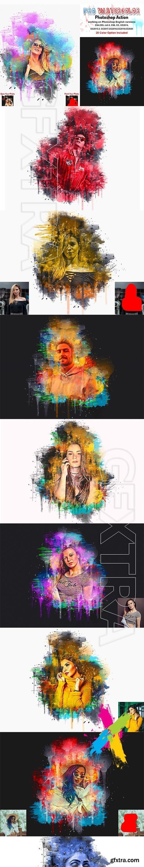 CreativeMarket - Pro Watercolor Photoshop Action 5785133