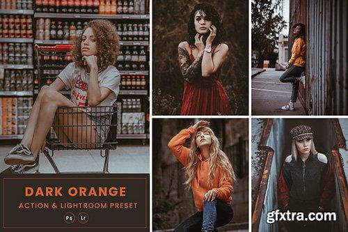 Dark Orange Action & Lightrom Presets