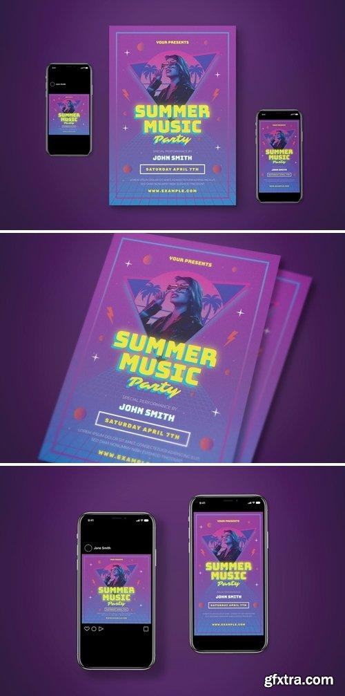 Summer Party Flyer Set