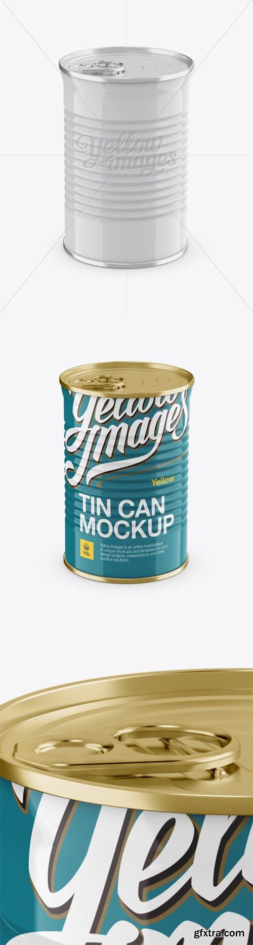 Tin Can w/ Metal Rim Mockup (High-Angle Shot) 12647