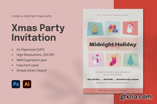 15 Christmas Party Invitation Poster Flyer