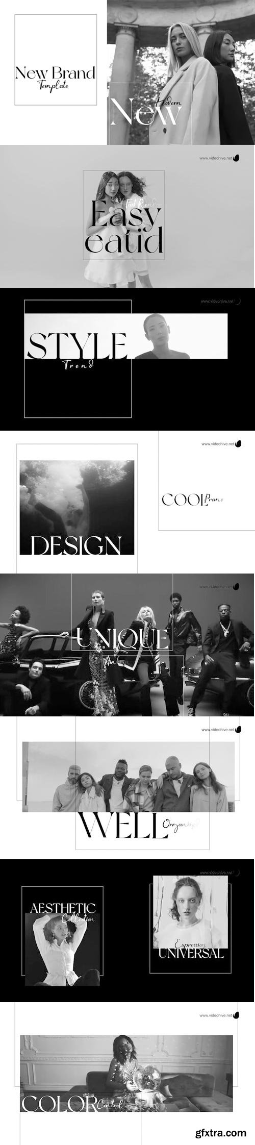 Videohive - black and white fashion opener - 32232089