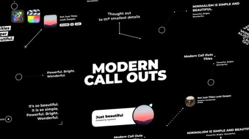 Videohive - Modern Call Outs - 33120679 - 33120679