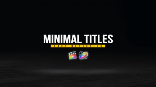 Videohive - Minimal Titles Pack - 33124856 - 33124856