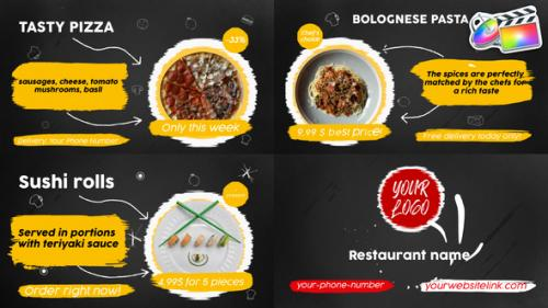 Videohive - Food Menu Slideshow   FCPX - 33152678 - 33152678