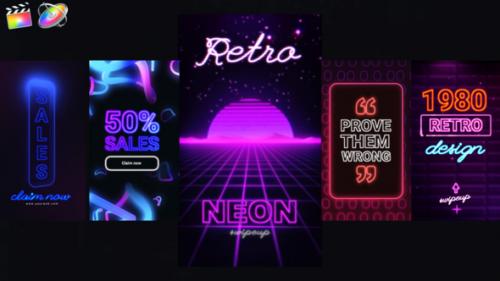 Videohive - Neon Instagram Stories - 33174016 - 33174016