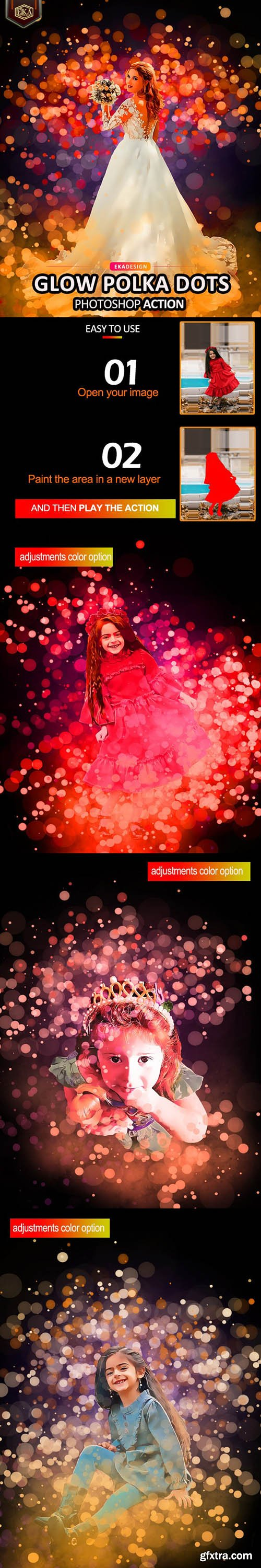 GraphicRiver - Glow Polka dots Photoshop Action 32501223