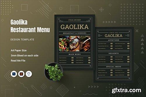 Gaolika Restaurant Menu GCY6V7M