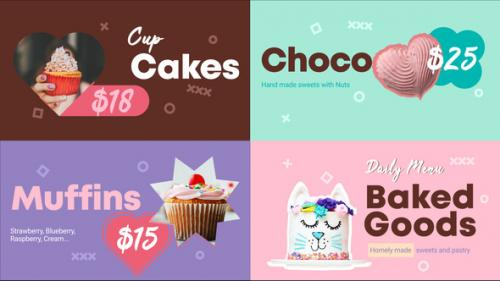 Videohive - Baked Goods Menu    FCPX - 33200417 - 33200417