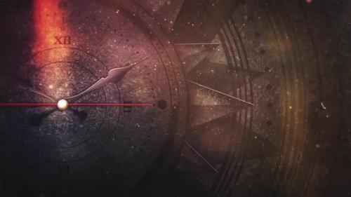 Videohive - cinematic magic clock compass - 33151977 - 33151977