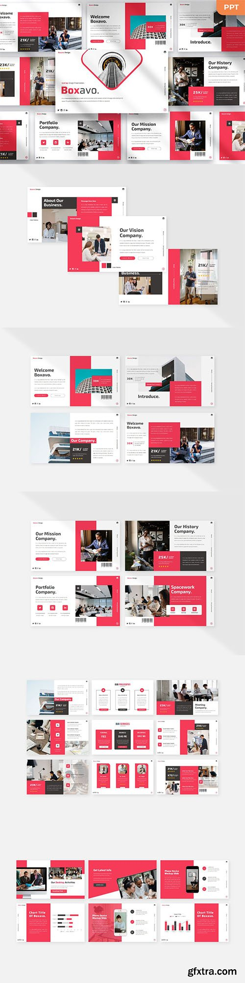 Boxavo - Startup - Powerpoint, Keynote and Google Slides Template