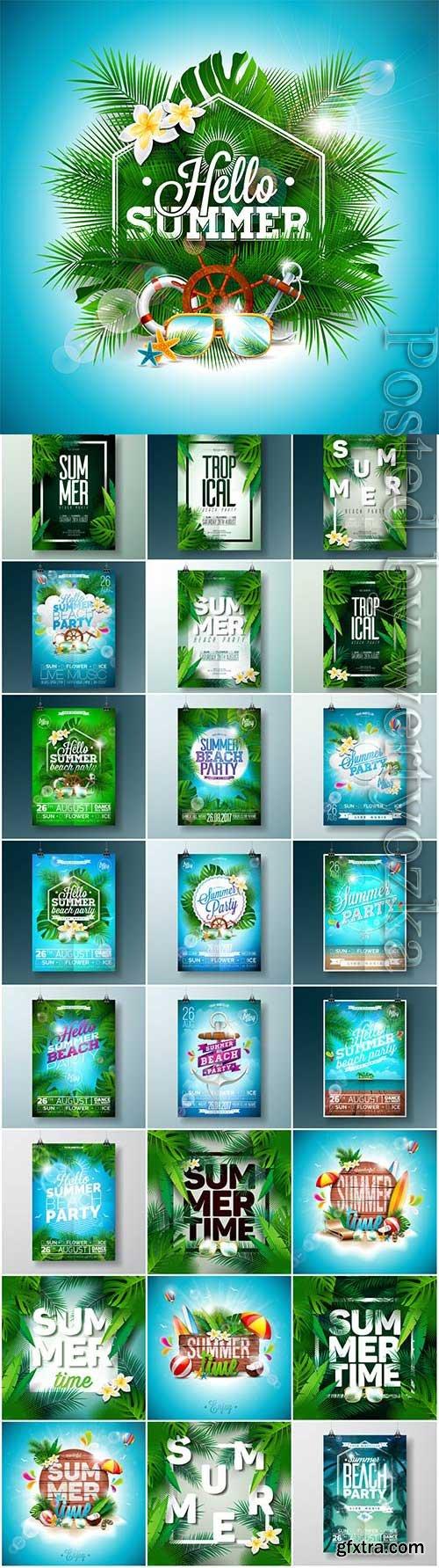 Summer posters in vector