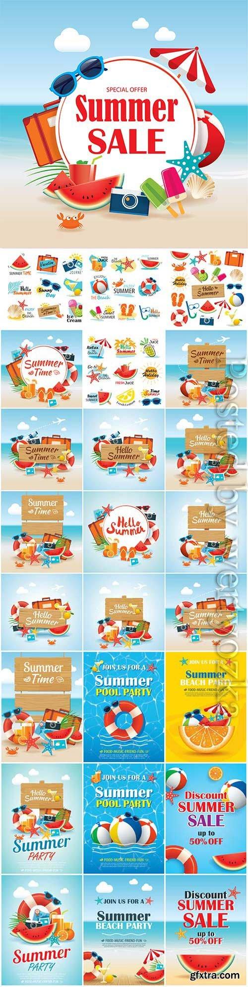 Summer sales illustration in vector