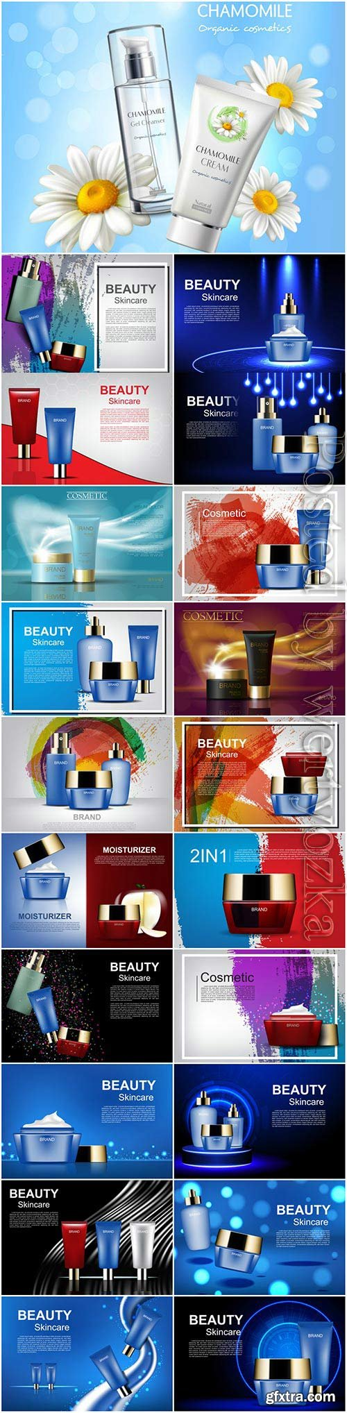 Cosmetic products illustration in vector