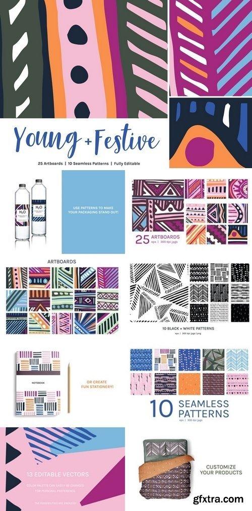 CM - Young Festive | Artboards + Patterns 2664553