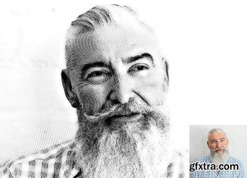 CreativeMarket - Engraved Effect Photoshop Action 4117231
