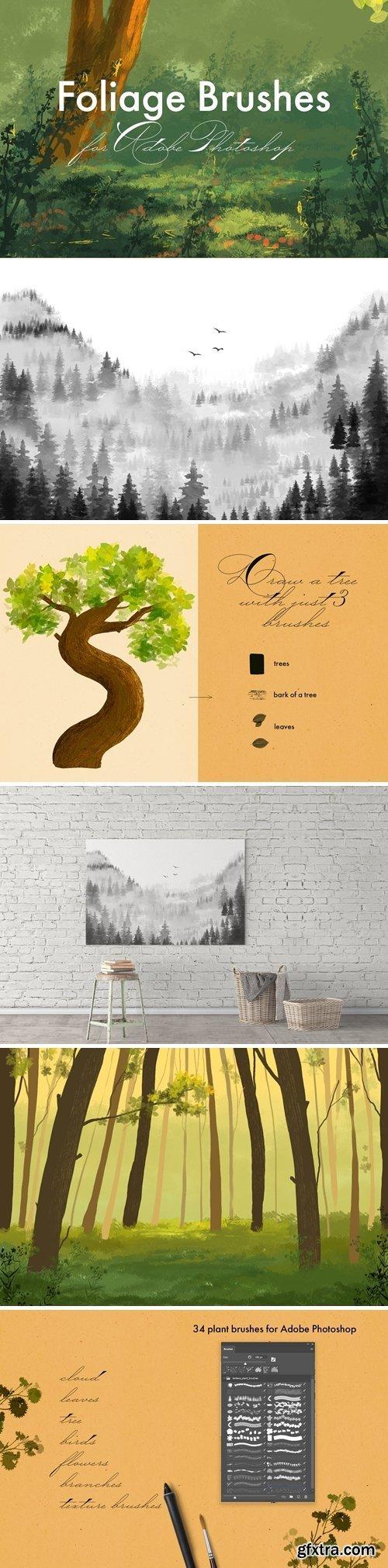 CM - Foliage Brushes for Adobe Photoshop 2960760