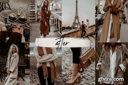 CreativeMarket - RETRO PARIS BLOGGER LIGHTROOM PRESET 4091738