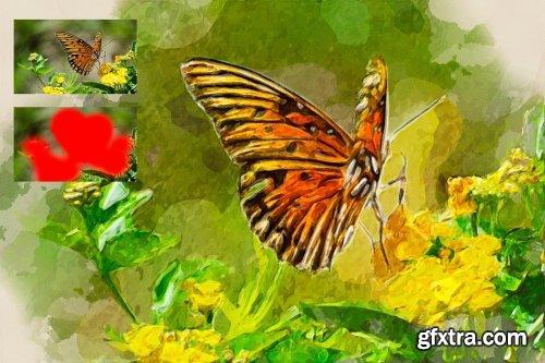 CreativeMarket - Hand Painting Photoshop Action 3991312