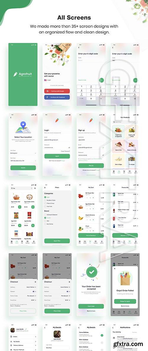 Agrofruit   Groceries App UI Kit