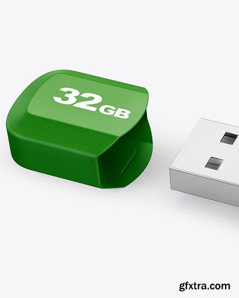 Textured USB Flash Drive Mockup 86504