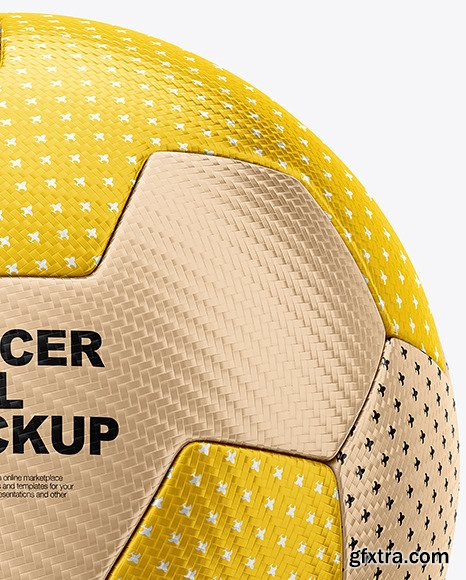 Metallic Soccer Ball Mockup 86503