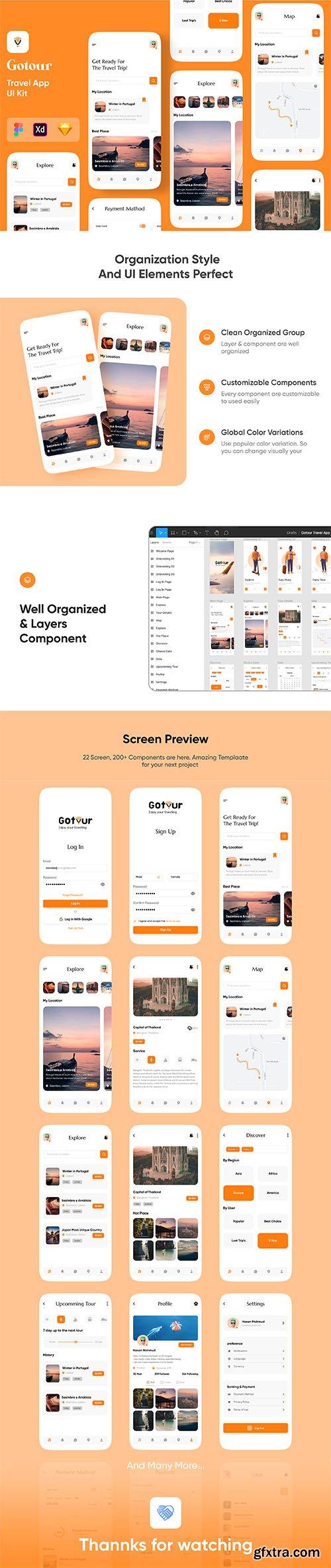 Gotour - Travel app design