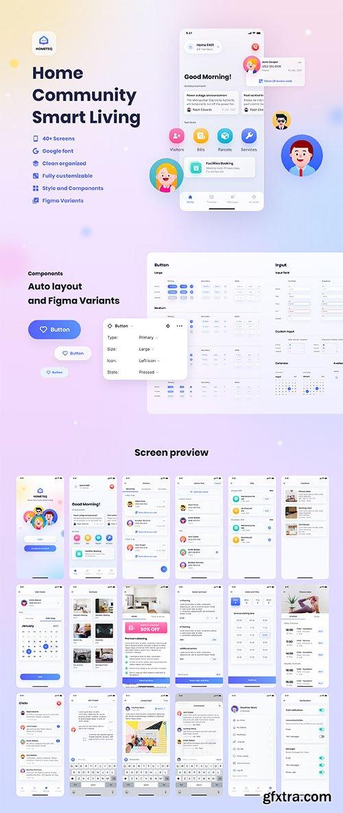 HOMETEQ - Smart Living App UI Kit