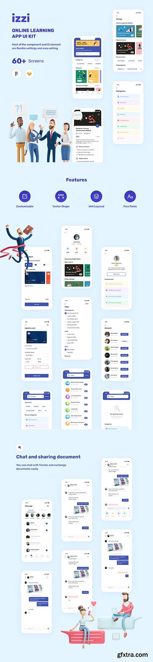 izzi - Online Learning App UI Kit