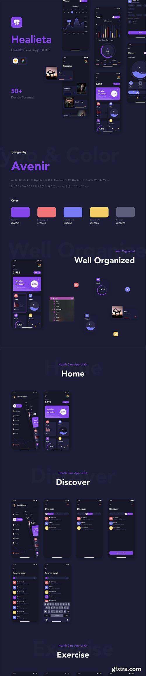 Healieta - Health Care Mobile App UI Kit