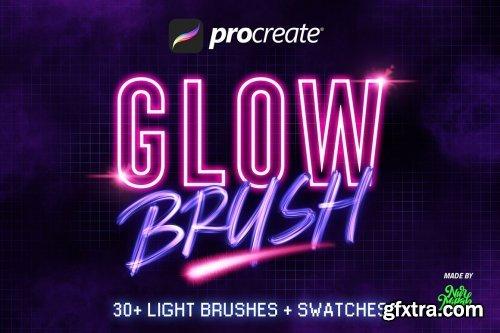 CreativeMarket - 30+ Procreate Glow Brushes 5386220