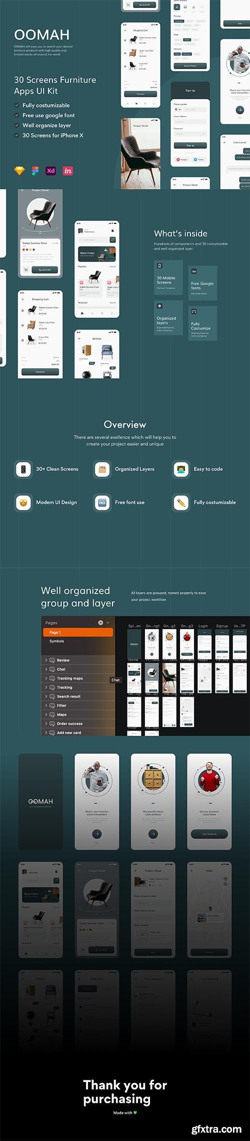 Oomah - Furniture Apps UI KIT