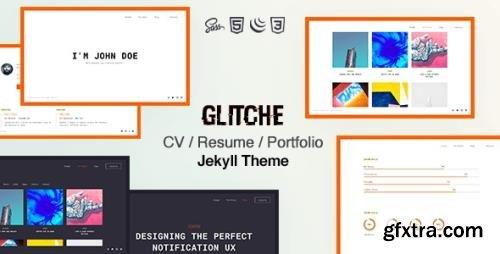 ThemeForest - Glitche v1.0.0 - Resume CV Portfolio Jekyll - 28835894