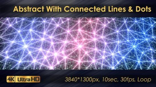 Videohive - Abstract Polygonal Animation With Connected Lines And Dots - 33225768 - 33225768