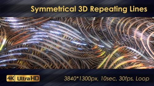 Videohive - Symmetrical 3D Geometric Repeating Lines - 33225777 - 33225777