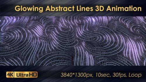 Videohive - Glowing Abstract Wave Lines Seamless Animation - 33225778 - 33225778